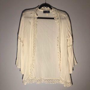 Boutique Lace Detailed Kimono